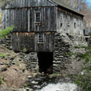 Grist Mill At Moore State Park Poster