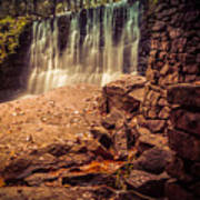 Grist Mill Water Fall Poster
