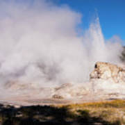 Grotto Geyser Eruption And Spray Poster