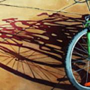 Group Hug - Bicycle Art Poster by Linda Apple