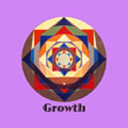 Growth text Poster
