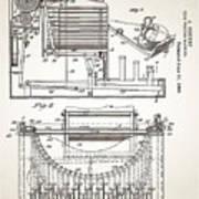 Grundy Typewriter Patent 1889 Poster