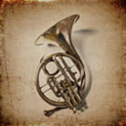Grunge French Horn Poster