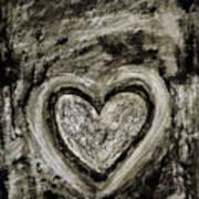 Grunge Heart Poster by Frank Tschakert