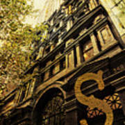 Grungy Melbourne Australia Alphabet Series Letter S Collins Stre Poster