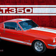 Red Gt 350 Mustang Poster