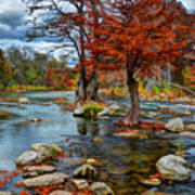 Guadalupe River In Autumn Poster
