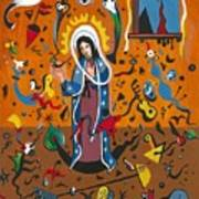 Guadalupe Visits Miro Poster