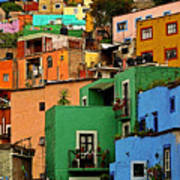Guanajuato Hillside 2 Poster