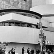 Guggenheim Museum Nyc Bw Poster