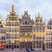 Guild Houses At The Grote Markt Poster