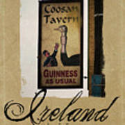 Guinness As Usual Athlone Ireland Poster