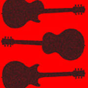 Guitar Silhouette Background Poster