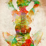 Guitar Siren Poster by Nikki Smith