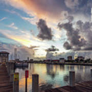 Gulfport Harbor Colors Poster