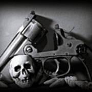 Gun And Skull Poster