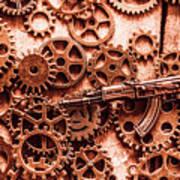 Guns Of Machine Mechanics Poster