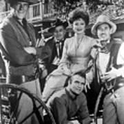 Gunsmoke Cast James Arness Amanda Blake And Burt Reynolds Poster