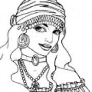 Gypsy Sketch Poster
