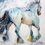Gypsy Vanner Motion Paint Sketch Poster