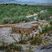 Hacienda In The Desert Poster