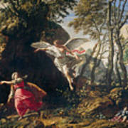 Hagar And Ishmael In The Wilderness Poster