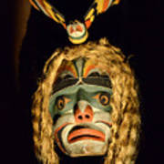 Haida Carved Wooden Mask 4 Poster