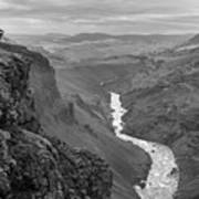 Haifoss Waterfall Iceland 1370 Poster