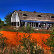 Hainesville Barn Color Poster