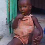 Haitian Boy Poster