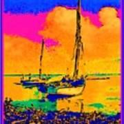 Haitian Fishing Boats Poster