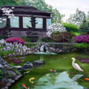 Hakone Gardens Pond In The Spring Poster
