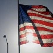 Half Mast Flag Honoring President Ronald Reagan Number 2 Casa Grande Arizona June 2004 Poster