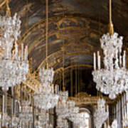 Hall Of Mirrors Palace Of Versailles France Poster