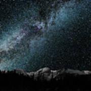 Hallet Peak - Milky Way Poster
