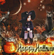 Halloween Girl Poster