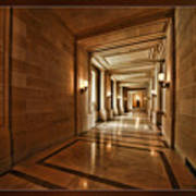 Hallway In City Hall Sf Poster