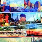 Hamburg Elbe Poster
