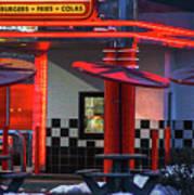 Hamburgs-fries-colas Poster