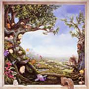 Hamster Tree Window Poster