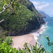 Hanakapiai Beach - Kalalau Trail - Kauai Hawaii Poster