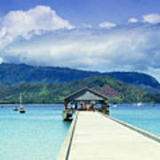 Hanalei Bay And Pier Poster