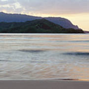 Hanalei Bay Evening Poster