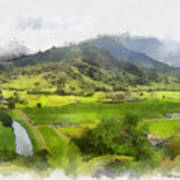 Hanalei Valley Poster