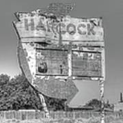 Hancock Gas Sign Poster