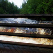 Handrails Tahquamenon Lower Falls Upper Peninsula Michigan 02 Poster