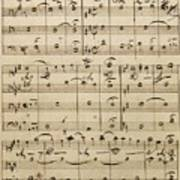 Handwritten Score Poster