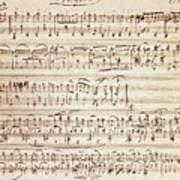 Handwritten Score For Waltz For Piano, Opus 39 Poster