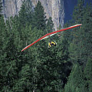 Hang Glider In Yosemite Poster