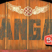 Hangar Bar Entrance Sign Poster